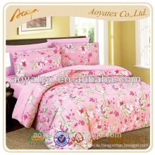 Microfiber soild bedding set