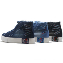 Height Increasing Shoes Paint Denim Student Casual Women Men
