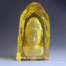 2015 горячая распродажа выгравированы К9 Буддизм кристалл айсберг для религии ,буддизм золотой кристалл