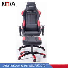 Nova new design nantique  rotating gaming leather chair with ottoman