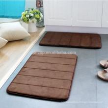 Memory Foam saugfähiger Badteppich ohne Gummirückseite