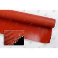 Tissu en tôle en fibre de verre revêtue de silicone Un côté