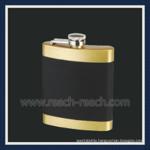 Stainless Steel Hip Flask with Rubber Coating (R-HF050)