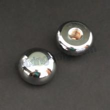 Peças de alumínio da cabeça do metal do giro do CNC com polir