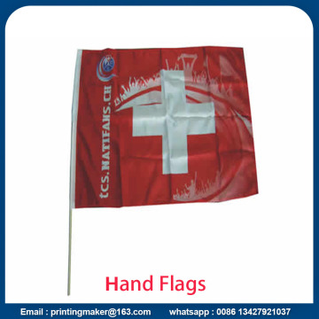 Custom Waving Flags dengan Solid Flagpole