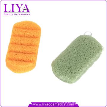 2016 Hot sale pure original bamboo charcoal konjac sponge