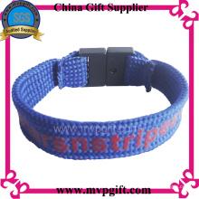 Customized Textile Wristband with Wovern Logo