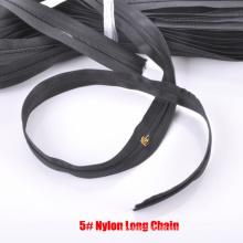 5 # Nylon Zipper Cadeia Longa