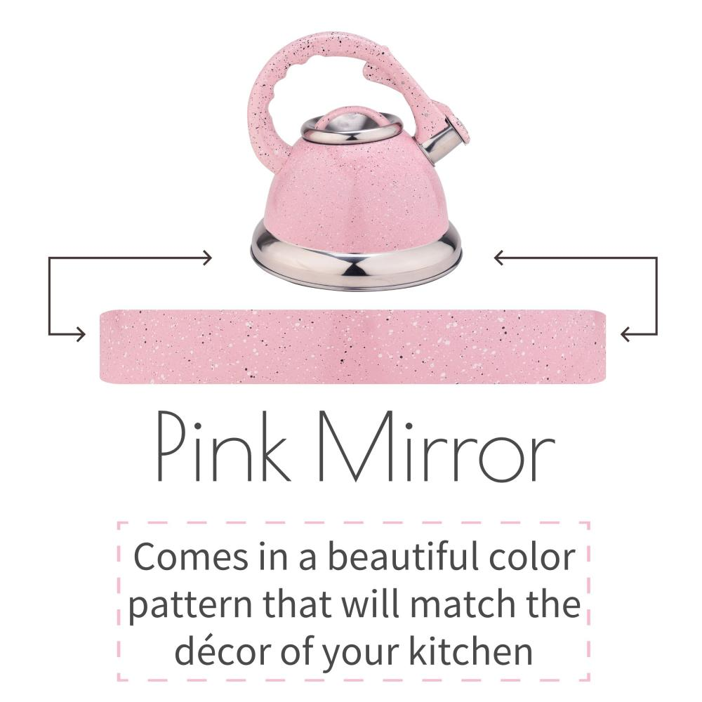 Pink Whistling Water Kettle