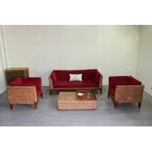 Trendy Water Hyacinth Sofa Set for Indoor Wicker Furniture