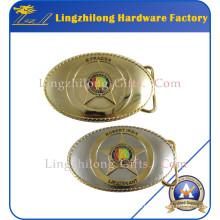 Hebilla del cinturón de Metal de acabado de dos tonos