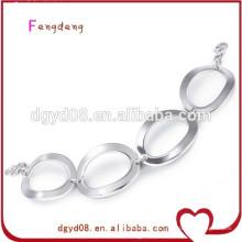2015 hot fashion alta qualidade mulheres 316l pulseira de aço inoxidável