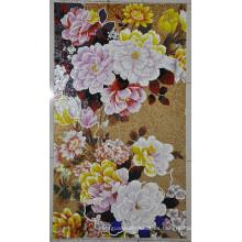Azulejo de mosaico Foto Azulejo de mosaico de patrón de flor