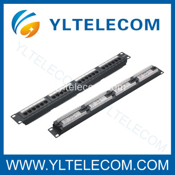 1U 19 pollici 24port(4*6) Patch Panel con tipo etichetta cat. 5e e Cat. 6