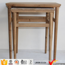 Solid Wood Vintage Style Nesting Tables
