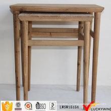 Столы для вложенности в винтажном стиле