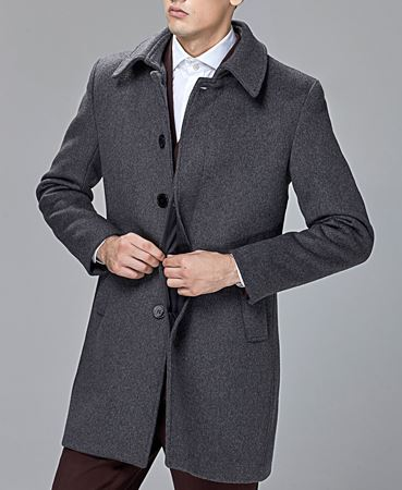 Men's Wool Cashmere Coat -6
