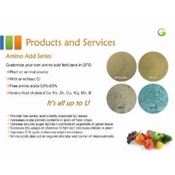 Pó de Aminoácido em Fertilizante Orgânico