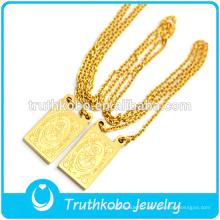 Fabricant de bijoux professionnel catholique Lorbs en acier inoxydable bijoux vide religieux médaille chaîne collier avec Jésus