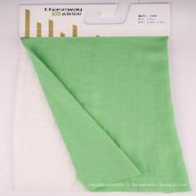 Tissu brillant en mousse à rayons en polyester Linen Look