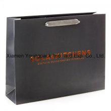 Gran Lujo de la tarjeta de mate negro laminado satinado manija bolsa de papel