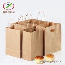 120 g braune Einkaufstasche aus Kraftpapier mit Henkel