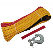 Wear resistance towing winch rope with hook Synthetic