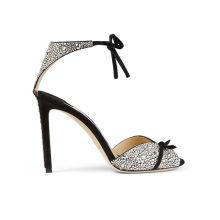 2019 Fashion Design Black Womens Silver High Closed Toe Stiletto Heels
