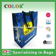 2015 Pretty design reusable pp non woven bag with shinny laminated