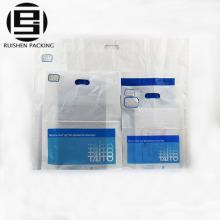 Cheap printed die cut plastic shopping bags
