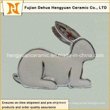 Серебряный Покрытие Фарфоровые Кролик Форма Подсвечники для Пасхи Украшение