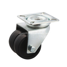 Flat Plate Dual-wheel Casters with PVC Wheels