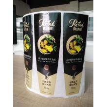 Impressão de etiquetas cosméticas de folha quente de prata dourada holográfica