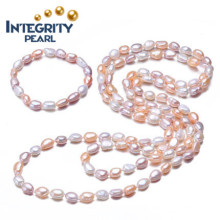 8-9mm Multi Color Baroque Freshwater Pearl Set