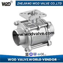 3-PC Butt Weld Ball Valve with High Platform