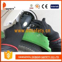Nylon Cotton Knitted Gloves PVC Dots Dkp428