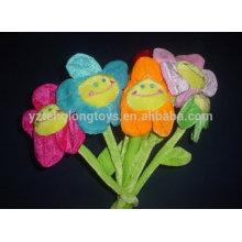 Felpa sonrisa cara flor sol juguete para niña