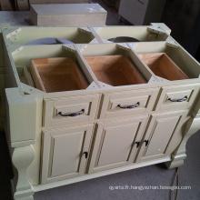 Temps de levage prolongé Table de cuisine en bois massif de qualité chinoise