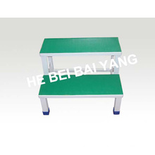 D-34 Plastic-Sprayed Two Layers Foot Stool for Hospital Use