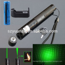 Foco Ajustável Burning Match Lazer 303 Green Laser Pointer