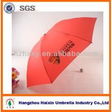 Guarda-chuva de promoção de cor vermelha para venda