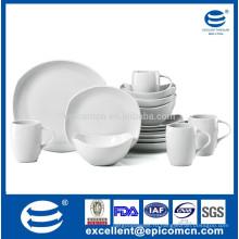Белый фарфоровый сервиз для завтрака для ребенка