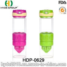 550ml BPA Free FDA Glass Fruit Infusion Water Bottle (HDP-0629)