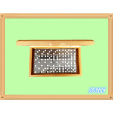Doppelter 6er-Kunststoff-Domino-Rucksack in Bambusbox