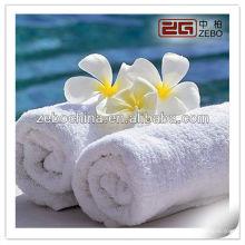 100% Coton Blanc Vente en gros de serviettes de visage / assurance commerciale