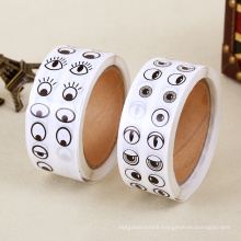 Beautiful Eyes Pattern Paper Roll Stickers