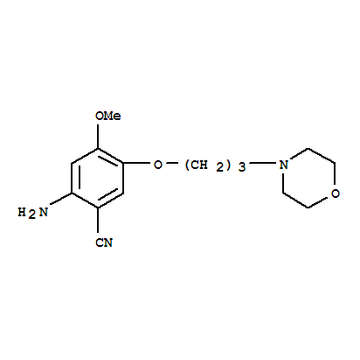 高品質ゲフィチニブ中間 2-Amino-4-Methoxy-5-(3-Morpholinopropoxy)benzonitrile CAS 675126-27-9