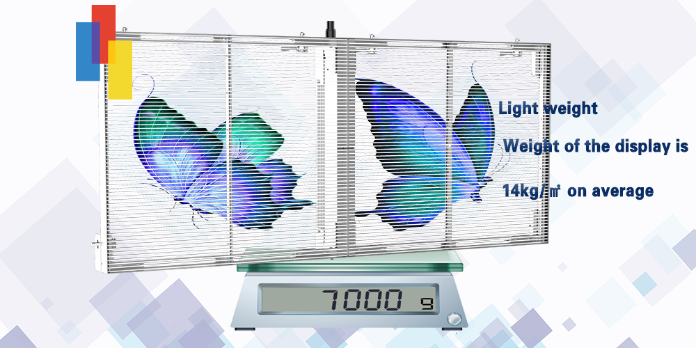 Glass LED Screen for Building with light weight