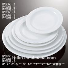 Type de céramique en porcelaine et plats et assiettes Vaisselle Type assiette en porcelaine