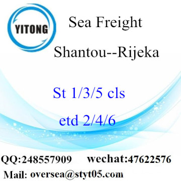 Shantou Port LCL Consolidation To Rijeka